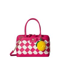 Betsey Johnson - Pink Forbidden Fruit Satchel - Lyst