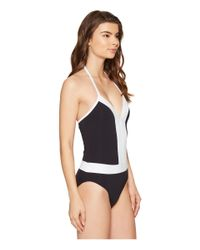 Bleu Rod Beattie - Black Summer Solids Plunge Halter Mio - Lyst