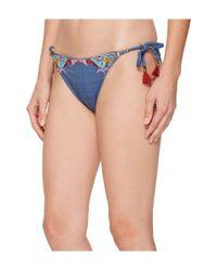 Nanette Lepore - Blue Dazed Denim Vamp Bikini Bottom - Lyst
