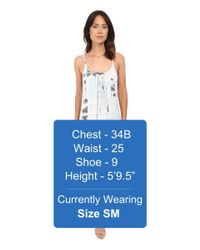 Gypsy 05 | White Spaghetti Strap Cross Back Mini Dress | Lyst