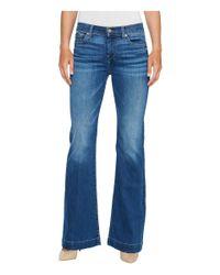 7 For All Mankind - Blue Dojo Jeans In Bella Heritage - Lyst