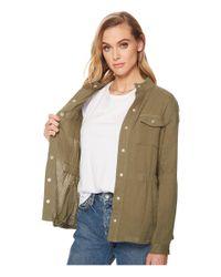 Jack BB Dakota - Green Burnell Cotton Gauze Utility Jacket - Lyst