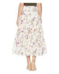 Lauren by Ralph Lauren - Multicolor Tiered Cotton-blend Skirt - Lyst