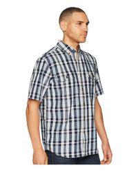 Carhartt - Blue Fort Plaid Short Sleeve Top for Men - Lyst