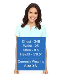 NYDJ - Blue Pleat Back Knit Top - Lyst