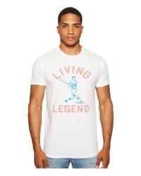 The Original Retro Brand - White Living Legend Short Sleeve Vintage Cotton T-shirt for Men - Lyst