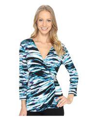 Calvin Klein - Blue Wrap Top W/ Hardware - Lyst