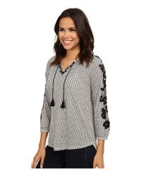 Lucky Brand - Multicolor Dot Striped Top - Lyst