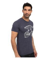 The Original Retro Brand - Blue Short Sleeve Tri-blend American Cycle Tee for Men - Lyst