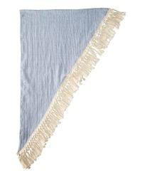 Steve Madden - Blue Oversized Tassel Triangle Day Wrap - Lyst