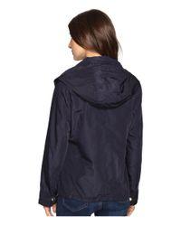 MICHAEL Michael Kors - Blue Hooded Snap Front Jacket M322087r - Lyst