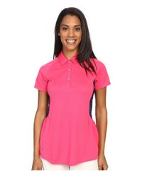Adidas Originals - Pink Tour Climachill Peplum Polo - Lyst