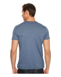 RVCA - Blue Vintage Dye Label Tee for Men - Lyst