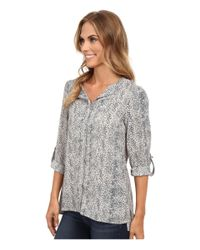 B Collection By Bobeau - Gray Pleat Back Woven Blouse - Lyst