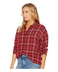 RVCA - Red Drift Away Top - Lyst