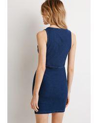 Forever 21 | Blue Denim Bodycon Dress | Lyst