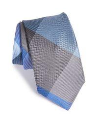 Michael Kors - Blue 'jumbo Plaid' Silk Tie for Men - Lyst