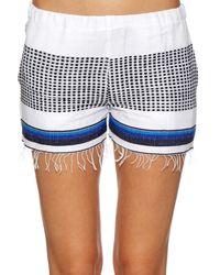 lemlem Blue Lulu Multi-striped Shorts