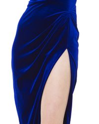 Akira Black Label - All The Right Moves Velvet Royal Blue Dress - Lyst