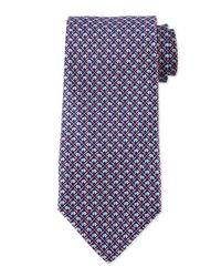 Ferragamo Blue Elephant Classic Tie for men