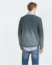 Zara | Green Structured Degradé Sweater for Men | Lyst