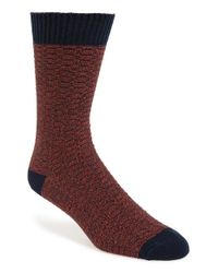 Ted Baker | Gray 'hazzaa' Chunky Waffle Texture Organic Cotton Blend Socks for Men | Lyst