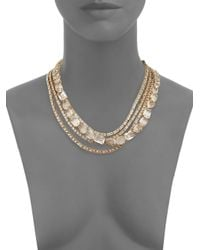 kate spade new york | Metallic Draped Jewels Multi-strand Necklace | Lyst