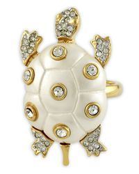 Kenneth Jay Lane | White Pearl Turtle Ring | Lyst