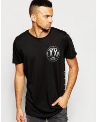 Jack & Jones | Black Skater T-shirt With Back Print for Men | Lyst