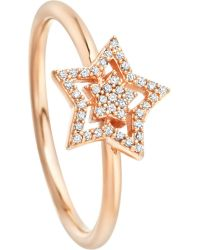 Astley Clarke - Metallic Super Star 14ct Rose-gold And Diamond Ring - Lyst