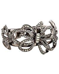 Oscar de la Renta | Black Swarovski Crystal Branch Cuff | Lyst