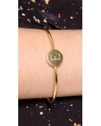 Sarah Chloe Metallic Ella Engraved Adjustable Bracelet