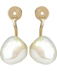 Annoushka | White Frost Pearl And 14ct Yellow-gold Earring Back | Lyst