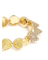 Eddie Borgo Metallic Crystal Pavé Cone Bracelet