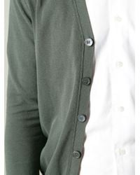Zanone Green Classic V-neck Cardigan for men