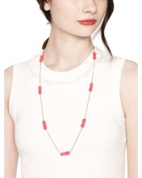 kate spade new york | Pink Moon River Scatter Necklace | Lyst