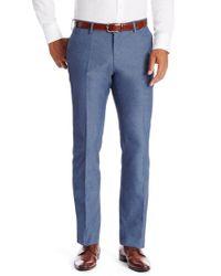 BOSS - Blue 'sharp' | Regular Fit, Virgin Wool Dress Pants for Men - Lyst