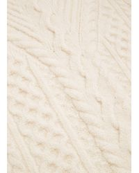 Mango | White Mixed Knit Sweater | Lyst
