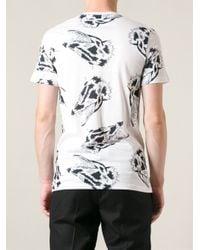 Lanvin White Wolf Print Tshirt for men