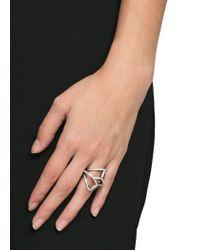 Mango - Metallic Geometric Ring - Lyst