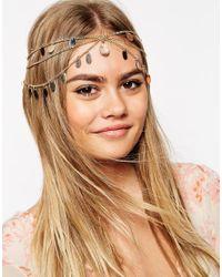 ASOS Metallic Multi Row Petal Hair Crown