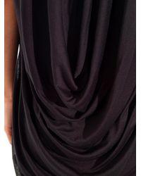 Helmut Lang - Black Swift Draped-back Dress - Lyst