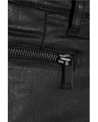 Karl Lagerfeld Black Paule Lowrise Waxed Skinny Jeans