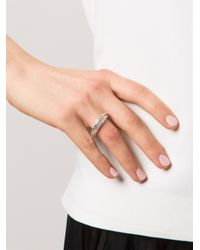 Rosa Maria - Metallic 'Chie' Diamond Ring - Lyst