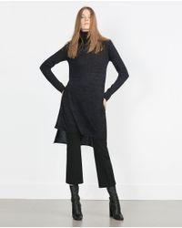 Zara | Gray Polo Neck Sweater | Lyst