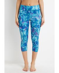 Forever 21 - Purple Abstract Print Capri Leggings - Lyst