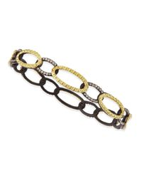 Armenta | Metallic Midnight & Yellow Gold Circle Link Bangle With Diamonds | Lyst