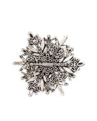Saint Laurent Metallic Crystal Pavé Brooch