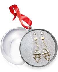 Macy's   Metallic Robert Rose Two-tone Geometric Earring Set   Lyst
