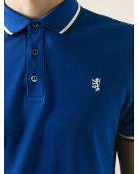 Pringle of Scotland Blue Logo Embroidered Polo Shirt for men